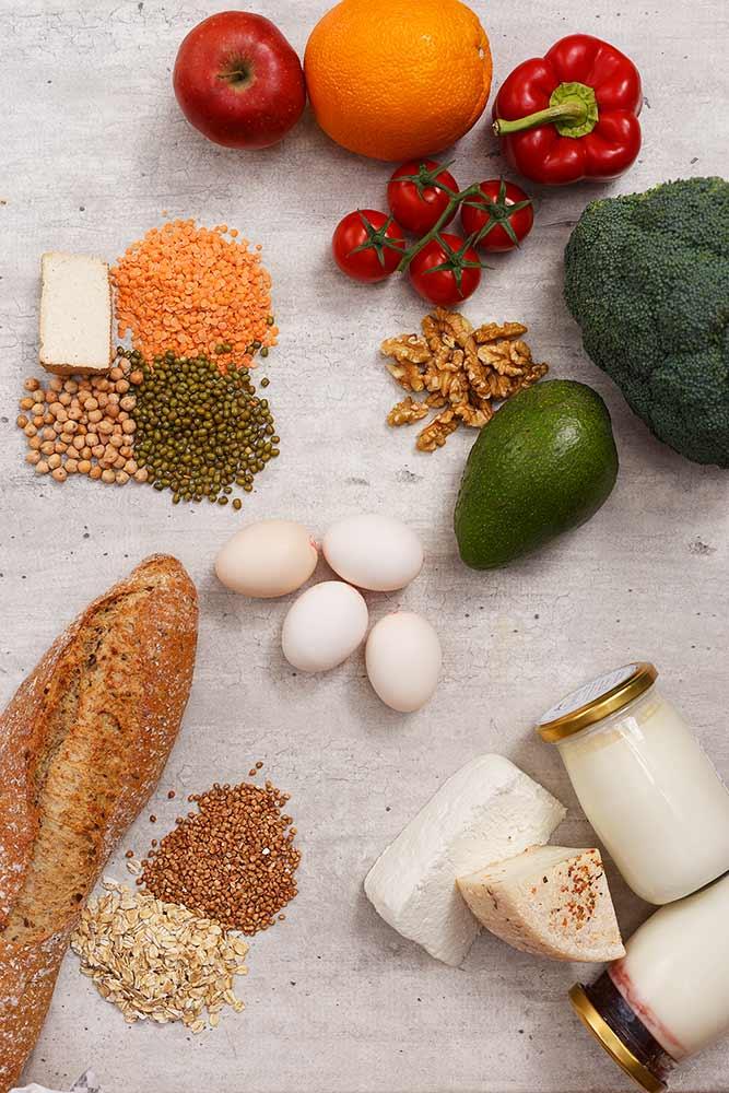 aranżowane zdjęcia żywności